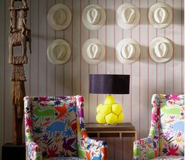 Ric_Rac_Carnival_wallpaper_Venus_Chairs_in_Tiki_Tiki_Carnival_Breuer_side_table_Ernest_table_lamp
