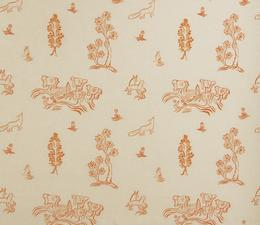 Friendly_Folk_Melon_Orange_Fabric_Large