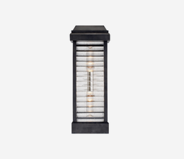 Dunmore_Louver_Wall_Light_in_Bronze_with_Clear_Ribbed_Glass