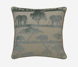 Safari Giraffe Duck Egg Cushion