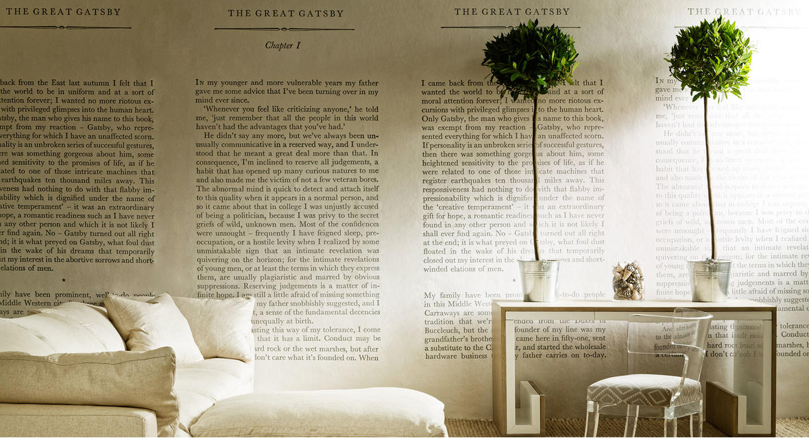 GreatGatsbyWallpaper_TrumanSofaHedgerowPlainLinen_SatinAcrylicChair_with_TrulloStoneSeat_DannyDesk