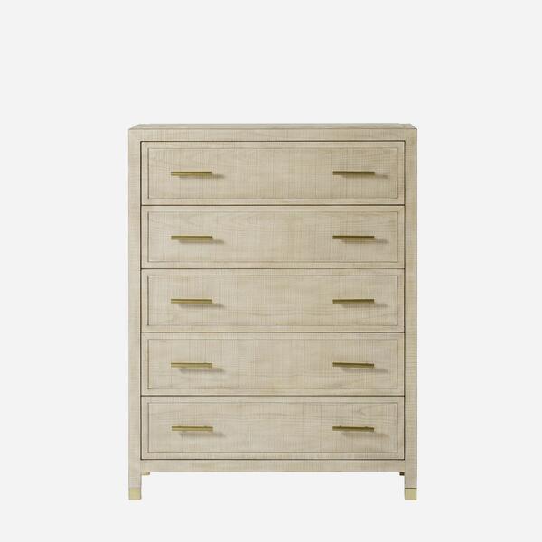 Modern chest of drawers in ash wood veneer