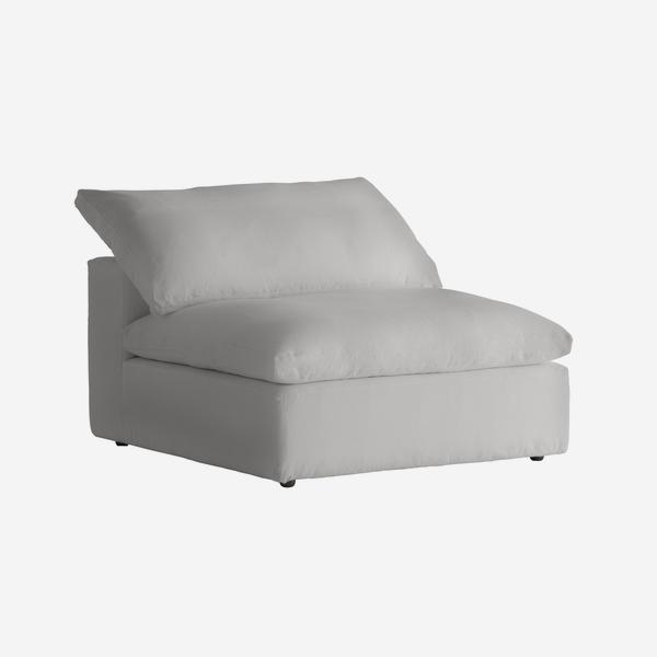 Truman_Large_Armless_Section_White_Linen_angle_