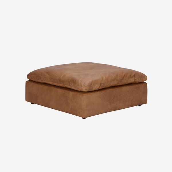 Truman_Footstool_Tan_Leather_angle_