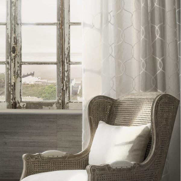 Elise_Chair_covered_in_Twine_String_fabric_with_sheer_curtain_in_Anchor_Natural