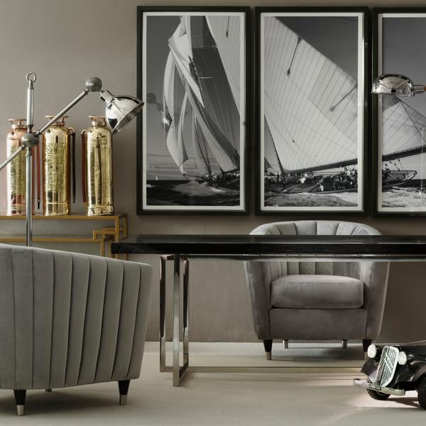 Kingsley_Chairs_Alistaire_Dining_Table_Architect_Console_Tables_Hubble_Desk_Light_Zuse_Floor_Lamp_Sea_Farer_Tryptich