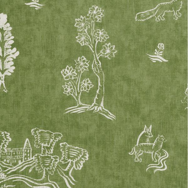 Friendly_Folk_Basil_Green_Fabric_Detail_2