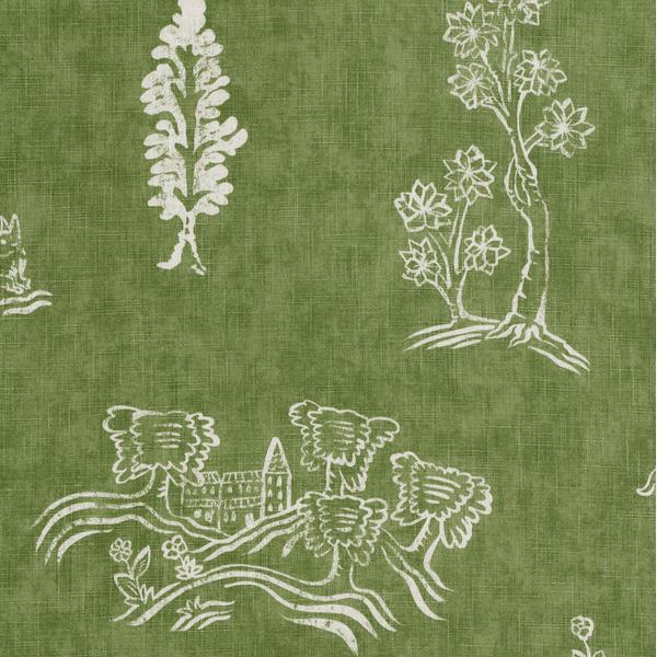 Friendly_Folk_Basil_Green_Fabric_Detail