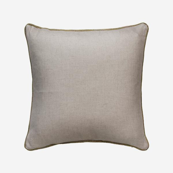 HedgerowPlainLinenDelphiniQuinceBackCushion