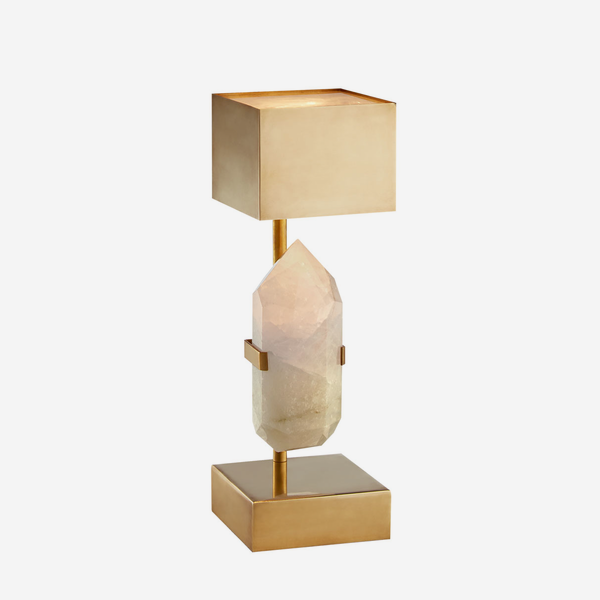 Halcyon_Desk_Lamp_in_Natural_Quartz_and_Brass_with_Brass_Shade
