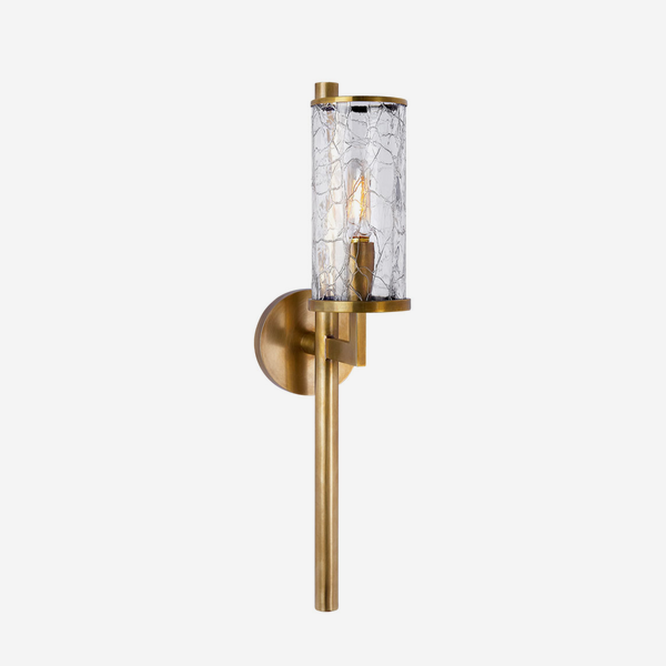 Liaison_Wall_Light_in_Antique_Brass_with_Crackle_Glass
