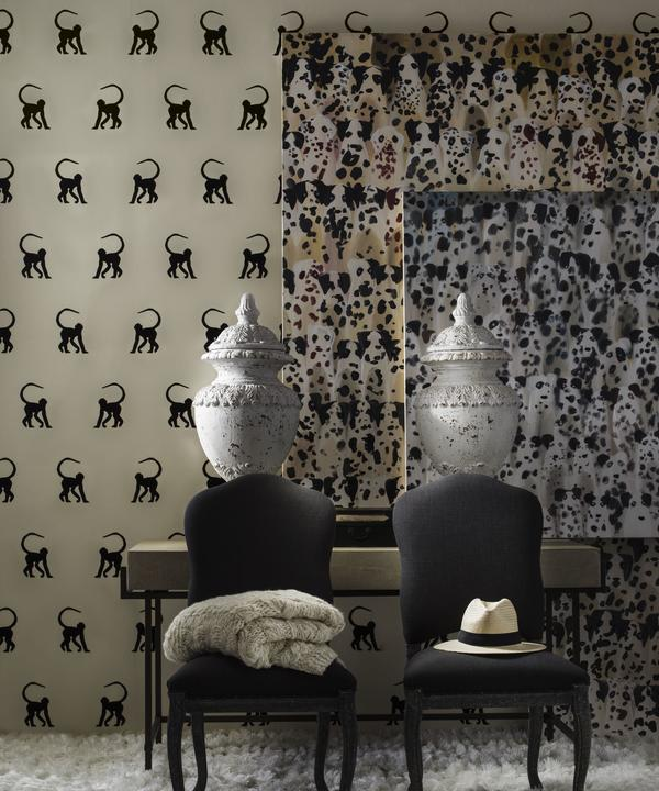cheeky_monkey_ebony_wallpaper_cecile_dining_chairs_mabel_console_table_lifestyle