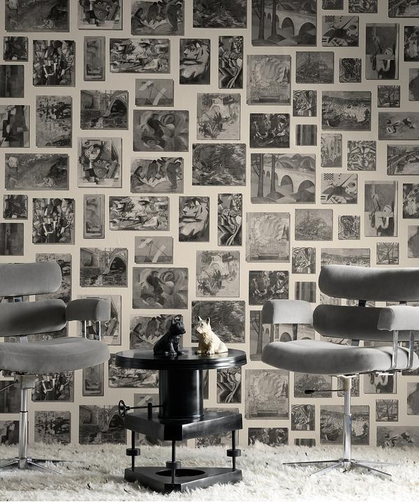 Rockefeller_Stone_wallpaper_and_barber_chairs_in_Pelham_Cloud_fabric
