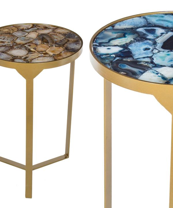 Ida Side Tables in Cobalt and Shingle