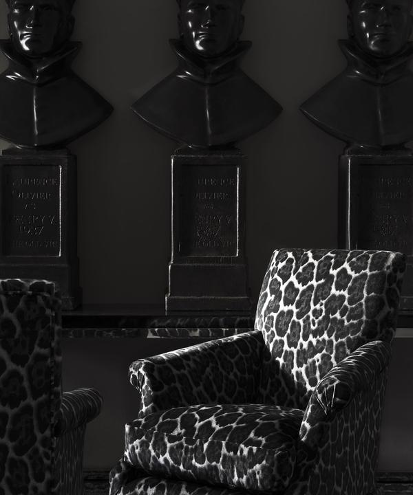 Bruce_Swivel_Chairs_upholstered_in_Barbarella_Smoke_printed_velvet_with_a_Black_Lacquer_console