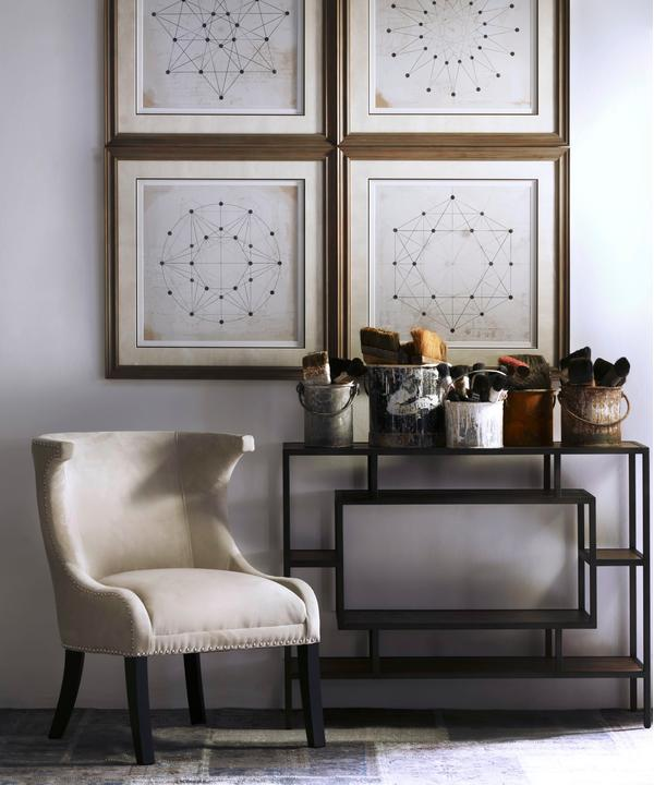 Fabio_Chair_Titus_Console_with_the_Dot_to_Dot_Series_Artwork