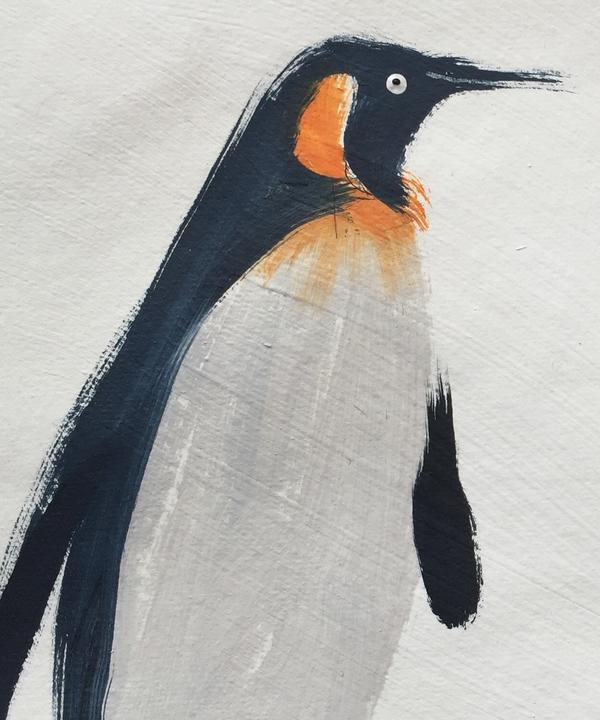 Holly_original_paintings_of_penguins_for_Tux_fabric